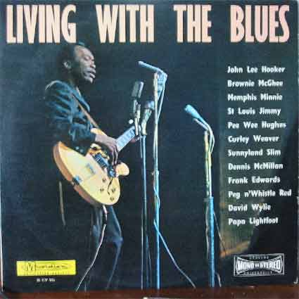 Pochette de disque : Living with the blues