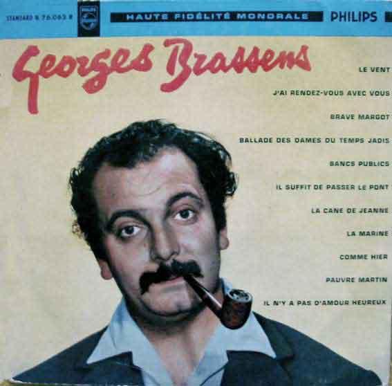 Georges brassens musica y fumador de pipa - Les amoureux des bancs publics paroles ...