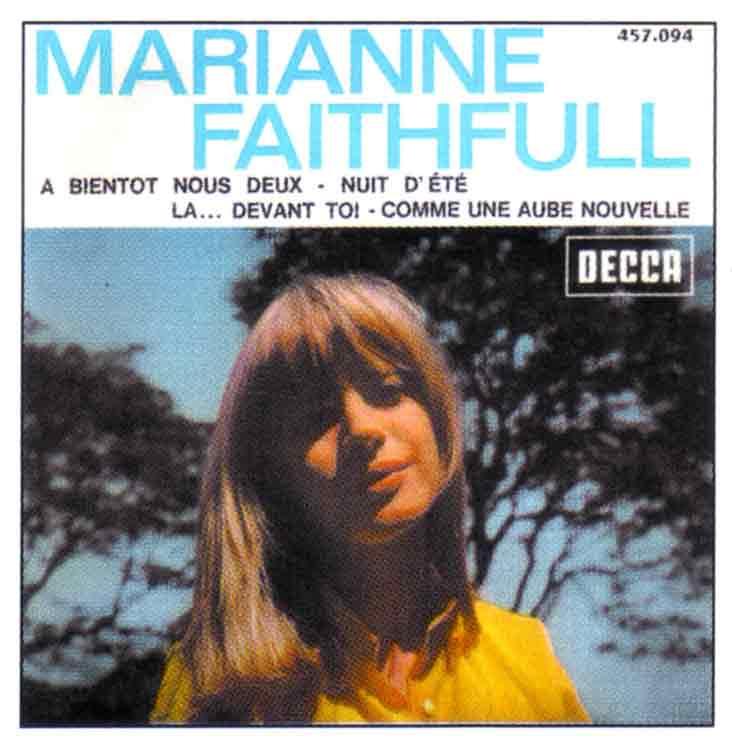 """Disque de Marianne Faithfull """"A bientôt nous deux"""""""