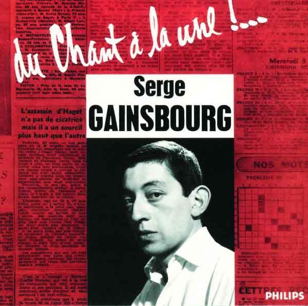 """Premier disque de Serge Gainsbourg """"Du sang à la une"""""""