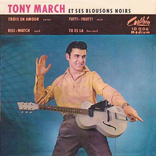 """Disque de Tony March """"Trois en amour"""""""