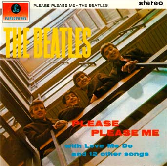 "Disque des Beatles ""Please Please Me"""