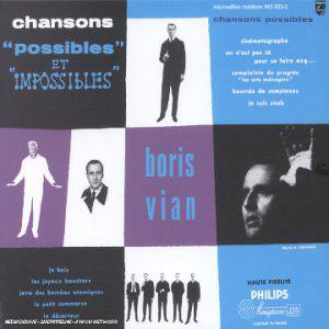 """Disque de Boris Vian """"Chansons possibles et impossibles"""""""
