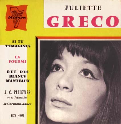 Disque 45 tours de Juliette Gréco