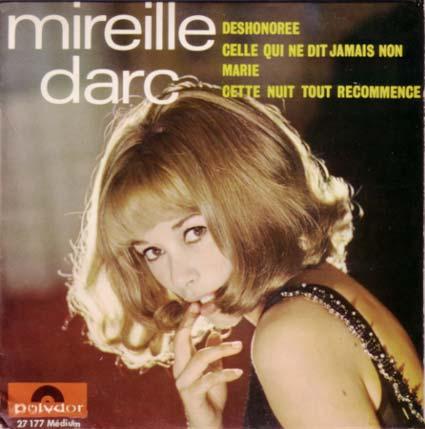 Disque 45 tours de Mireille Darc