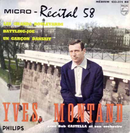 Disque 45 tours d'Yves Montand