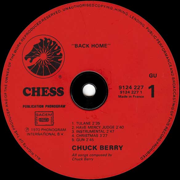 cinq vinyles de chuck berry. Black Bedroom Furniture Sets. Home Design Ideas