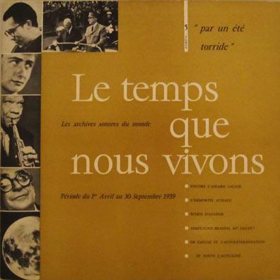 Vinyle : actualités de 1959