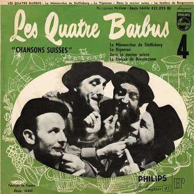 45 tours EP des Quatre Barbus