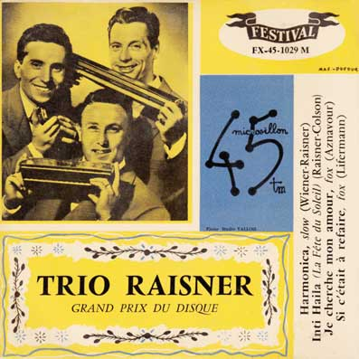 45 tours EP du Trio Raisner