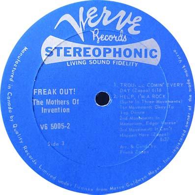 "Album ""Freak out"" des Mothers of Invention"