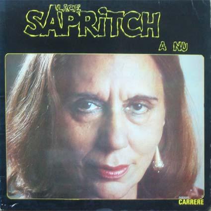 <b>Alice Saprich</b> A nu. Carrere 67 073 (1975) 30 euros - lps-var-70-80-2-saprich